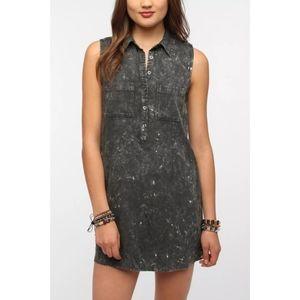 UO   byCORPUS Acid Wash Sleeveless Shirt Dress L